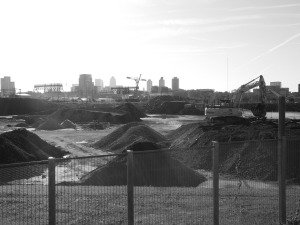 Peripheries of the Olympic stadium