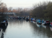 Canal scene, Clapton towpath