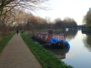 A wrecked boat at The Lea Valley